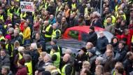 """""""Wir sind Diesel""""-Demo in Stuttgart."""