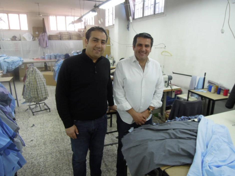 Die Textilfabrikanten Muhammad und Bassel al Hamali