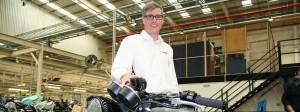 Der Klassiker: Triumph-Chef Nick Bloor hinter dem Modell Bonneville