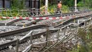 Achterbahn: Bis hier wieder Züge verkehren, werden Monate vergehen.