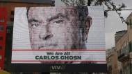 Solidarität mit Carlos Ghosn: ein Werbeplakat in Beirut.