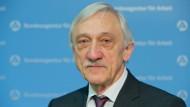 Heinrich Alt (SPD) im Januar 2015 in der Zentrale der Bundesagentur für Arbeit in Nürnberg. Von 2002 bis 2015 war er dort als Vorstand tätig.
