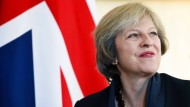 Gut gelaunt: Die Brexit-Premierministerin Theresa May