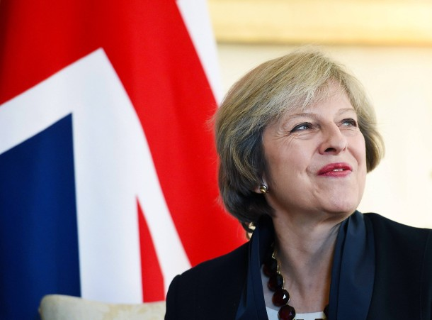 Gut gelaunt: Die Brexit-Premierministerin Theresa May, aufgenommen am 11.10.2016 in London