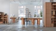 Wo flexible Arbeitswelten gefordert sind, können Pappmöbel eine preiswerte und schnelle Lösung sein.
