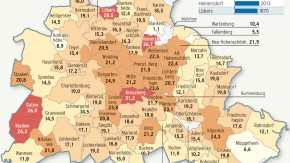Infografik / Karte / Eigentumswohnungen in Berlin