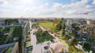 Große Stadtquartiere entstehen überall in Deutschland, wie hier das zukünftige Schumacher Quartier in Berlin.
