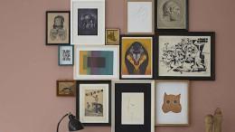 Vier Wände voller Bilder