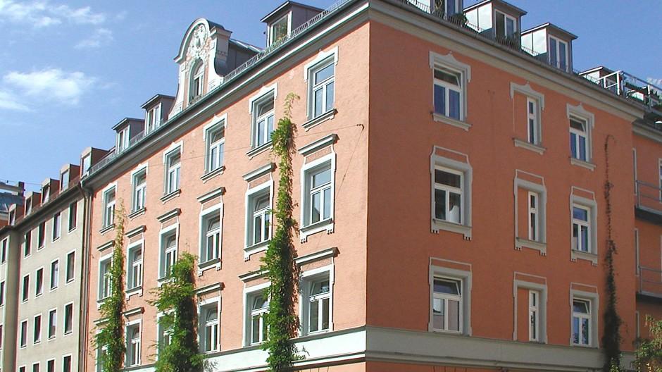 Gebäude der Wogeno München eG in der Metzstraße.
