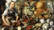 Marktfrau mit Früchten: Der flämische Maler Joachim Beuckelaer lebte in der Mitte des sechzehnten Jahrhunderts und hinterließ zahlreiche Obst- und Gemüsebildnisse.