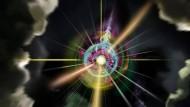 Eine Supernova, ein schwarzes Loch? Nichts dergleichen. Hinter der künstlerischen Darstellung verbirgt sich ein magnetischer Monopol.