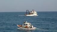 Kleinfischer im Mittelmeer
