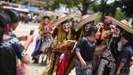 Maya-Tänze werden bei einem jährlichen Fest in Guatemala zelebriert.