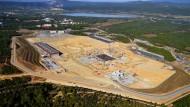Bauplatz für den Fusionsreaktor ITER in Cadarache September 2013