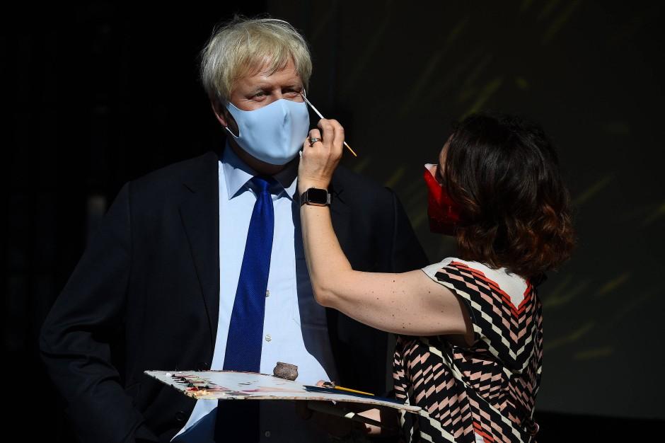 Der echte Boris Johnson oder doch nur eine Kopie aus Wachs für Madame Tussauds berühmtes Kabinett?