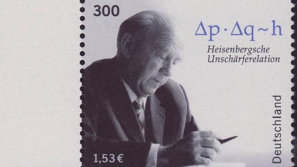 Heisenberg Briefmarke: Natur und Wissenschaft, Physík und Chemie