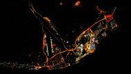 Leuchtende Sportstätte am Schwarzen Meer