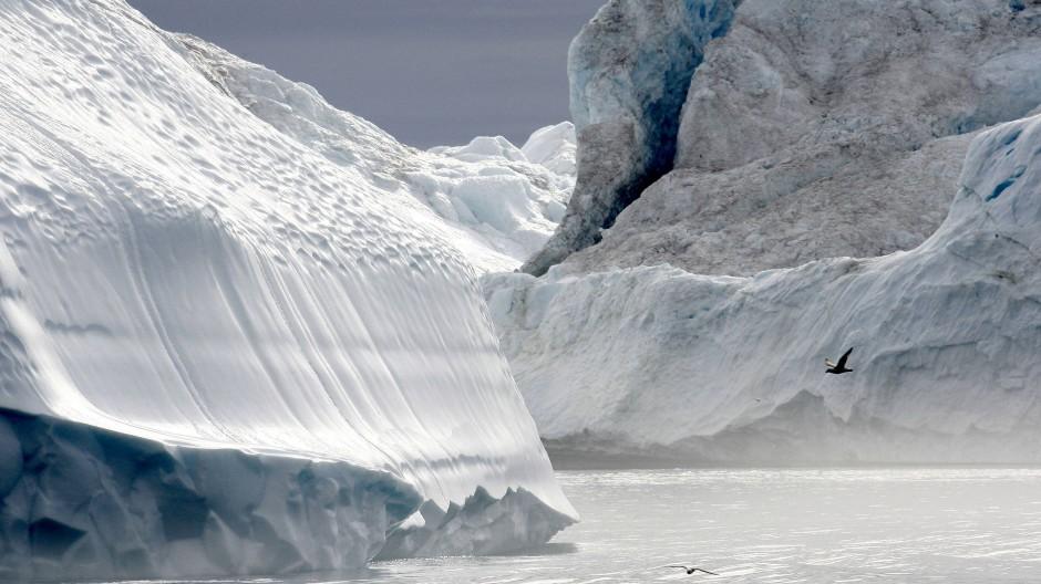 Wie hier vor Grönland war das Meer in den zurückliegenden 150.000 Jahren mindestens zweimal von dickem Schelfeis bedeckt.