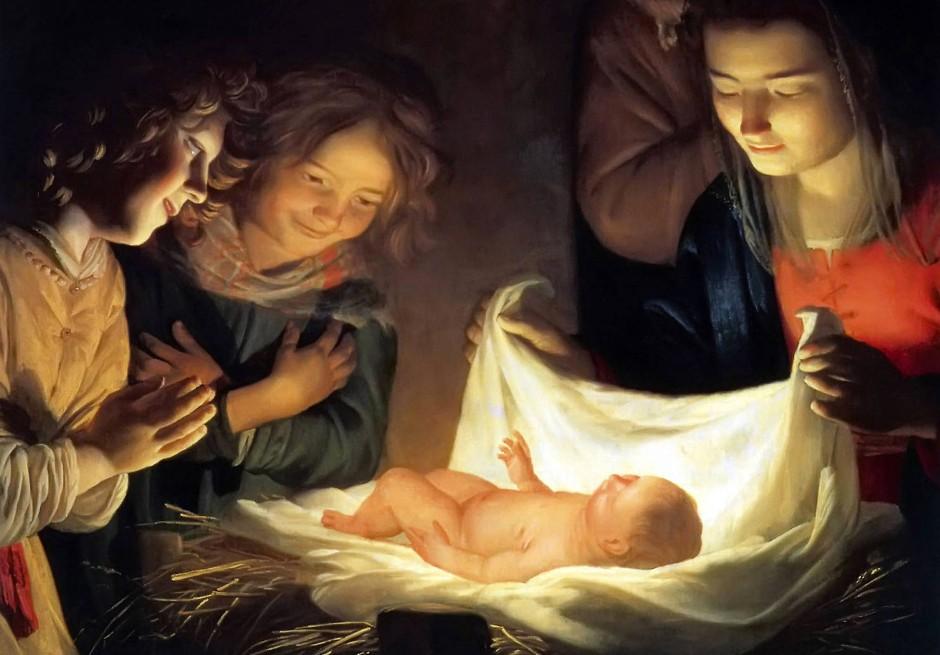 """Licht des Glaubens: Die """"Anbetung des Kindes"""" schuf der Utrechter Maler Gerard van Honthorst um das Jahr 1622."""