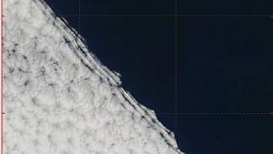 Wolken wie vom Reißbrett