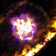 Künstlerische Illustration einer Supernova-Explosion