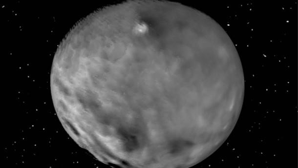 Rotierender Zwergplanet