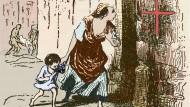 Mittelalter-Quarantäne: Die Türen der Pestinfizierten waren, wie das der französische Maler Daumier darstellte, für 40 Tage verrammelt.