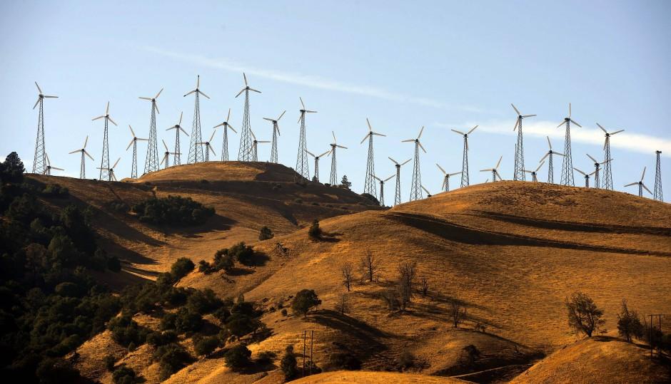 Die kalifornischen Windparks sollen dafür sorgen, dass der amerikanische Bundesstaat bis zum Jahr 2045 eine Stromversorgung ohne Kohlendioxidemissionen schafft.