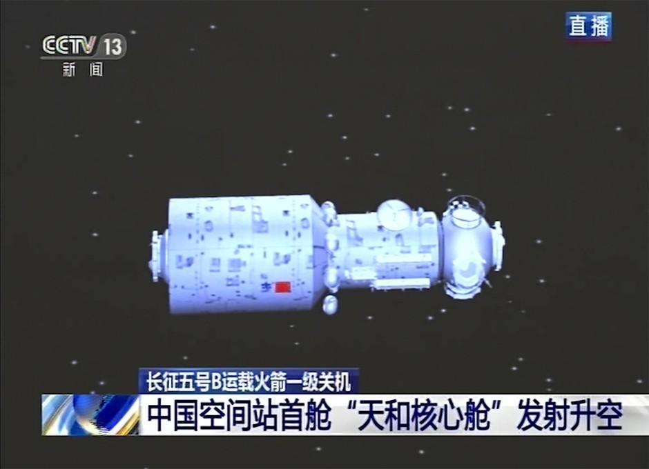 Das erste Modul der chinesischen Raumstation.