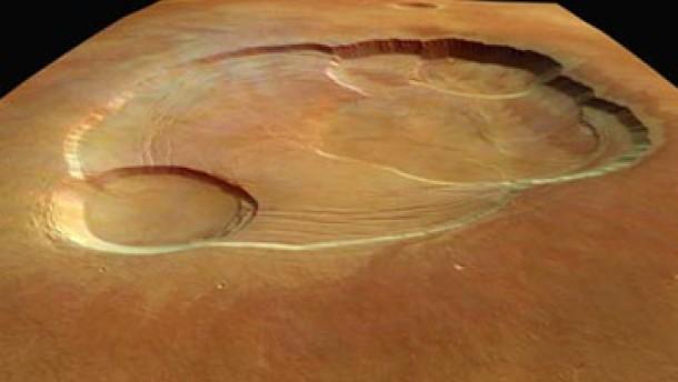 Olympus Mons in Nahaufnahme