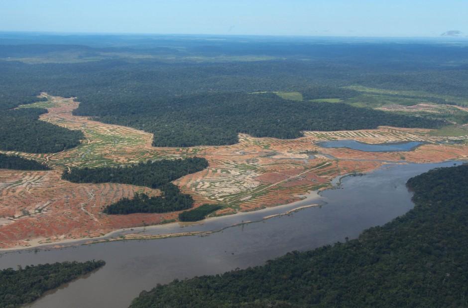 Entwaldete Waldflächen am Rande des Juruena-Nationalparks.