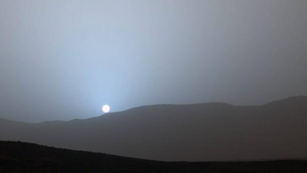 Sonnenuntergang auf dem Mars