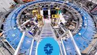 In diesem Speicherring am Fermilab kreisen geladene Myonen.