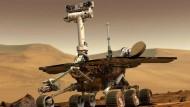 """Der Rover """"Opportunity"""" erkundet seit zehn Jahren den Mars."""