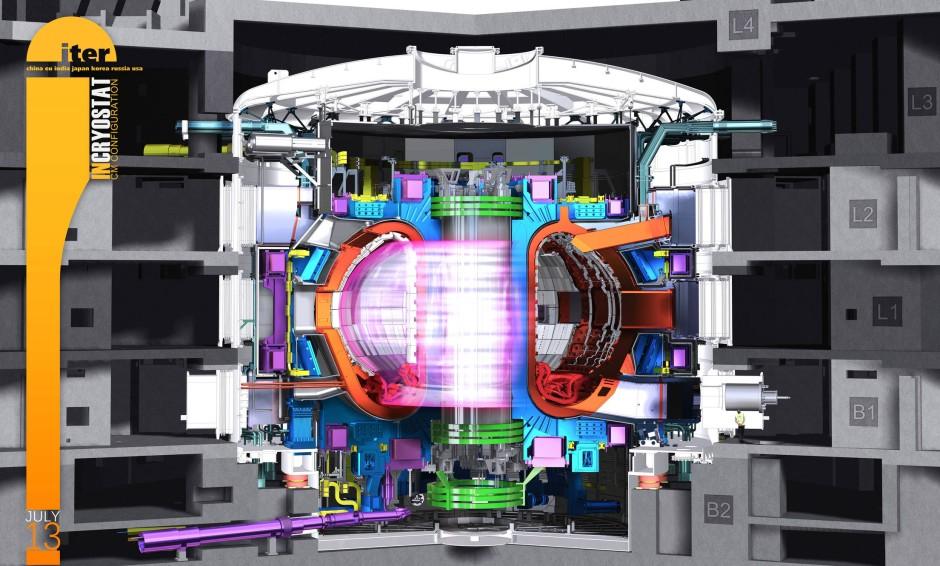 Illustration Fusionsreaktor Iter