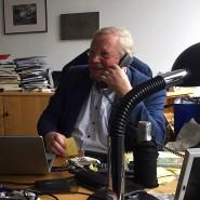 Reinhard Genzel in seinem Büro in Garching, kurz nach ihn  Nachricht  aus Stockholm erreichte.