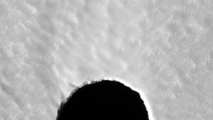Ein schwarzes Loch auf dem Mars