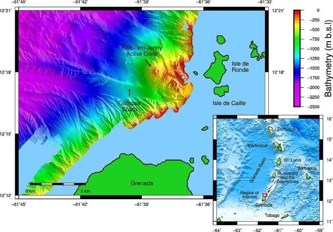 Vulkane Der Erde Karte.Submarine Vulkane Der Schrumpfende Feuerberg Der Karibik