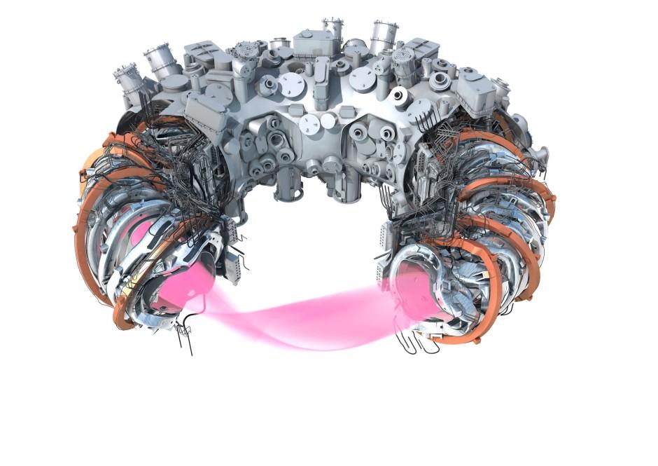 Der Stellerator und seinen Magnetspulen