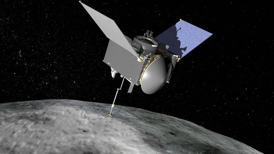 Illustration von der NASA-Sonde Osiris-Rex