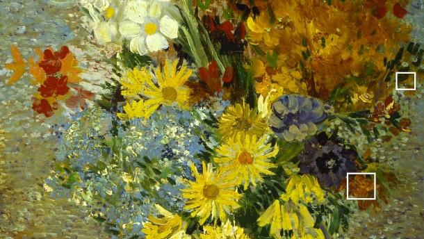 Van Gogh, Blumen in blauer Vase: Natur und Wissenschaft, Physik und Chemie