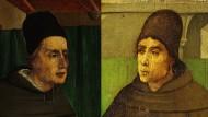 Intelektuelle Bettelmönche: Albertus Magnus (links) und Johannes Duns Scotus. Die Portraits schuf der fämische Maler Justus van Gent um das Jahr 1475 für den Palazzo Ducale in Urbino.