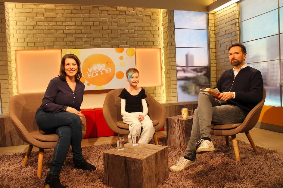 """In der ZDF-Sendung """"Volle Kanne"""" wird die sechzehnjährige Serina ab 9:05 Uhr über ihren großen Kampf gegen das Genleiden schildern."""