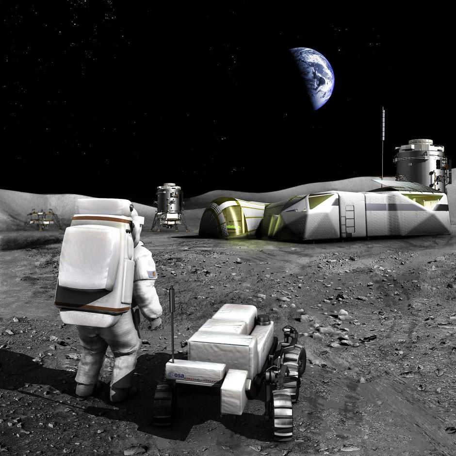 Ob das auch den europäischen Bürgern gefällt? Bei der Esa arbeiten die Wissenschaftler an den Plänen für eine Mondbasis.