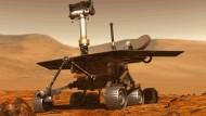 """Der Marsrover """"Opportunity"""" ist seit beinahe 15 Jahren auf dem Mars unterwegs."""