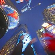 Die Welt, vom Nabel aus gesehen: Am Times Square in New York wachsen nur die Bäume nicht in den Himmel.