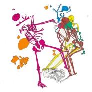 """Grafische Darstellung der Lagebeziehungen der Stillfried-Skelette. Rechts:""""Mutter"""" und """"Sohn"""", darüber ein weiteres, nicht mit den beiden verwandtes Kind.  Abbildung I. Hellerschmid,<QA0> nach Szilvássy et al"""