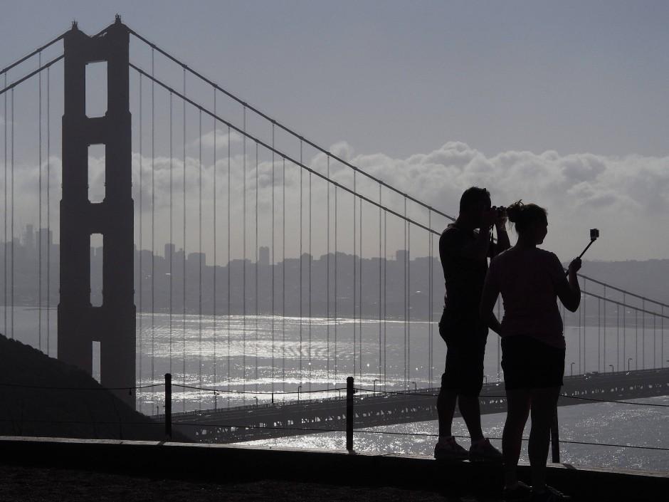 Schnappschüsse an der Golden Gate Bridge: Das Selfie wird beim Fotografieren immer mitgedacht.