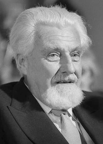 Konrad Lorenz auf einem Foto bei einem Kongress von Nobelpreisträgern aus dem Jahr 1975.