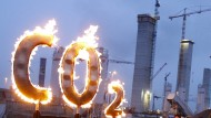 Klimademo vor der Baustelle des Kohlekraftwerks Hamburg-Moorburg.